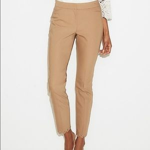 Express trousers with scallop detailed hem